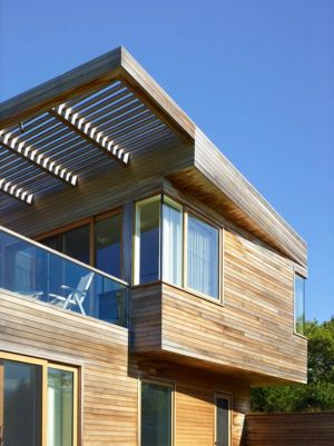 balcon et pare-soleil - Vineyard-Farm-House par Charles Rose Architectes - Vineyard, USA
