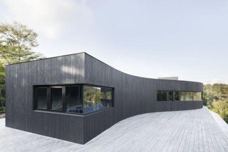 ouvertures vitrées étage supérieur - La-Heronniere par Alain Carle Architecte - Québec, Canada