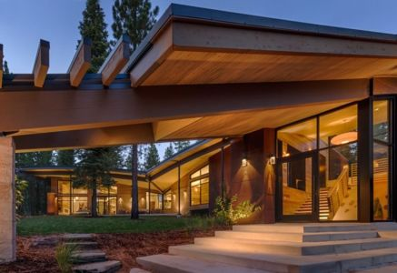 pallier entrée - Flight House in Martis Camp par Sage Architecture - Truckee, Usa