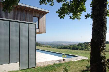 panorama - Maison l'Estelle par François Primault architecte - Moirax, France