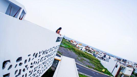 panorama balcon - Nest house par Gerardo Ars Arquitectura - Alvarado, Mexique
