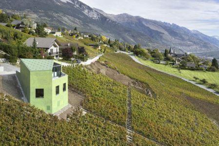 panorama côté - Maison Iseli par François Meyer architecture - Venthôme, Suisse