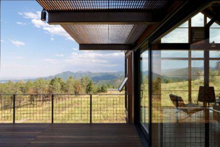 panorama depuis terrasse - Sunshine Canyon House par Renée del Gaudio Architecture - Boulder, Usa