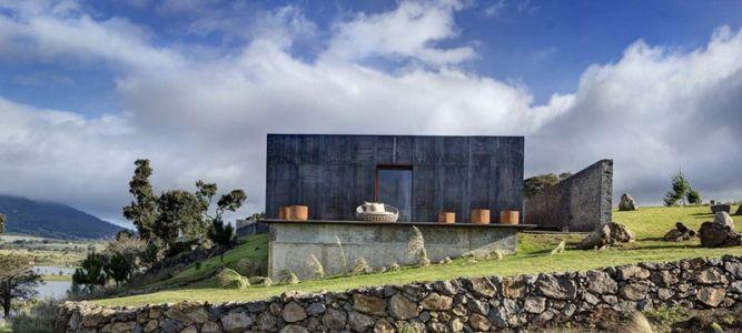 panorama et terrasse - Casa BS par  Elías Rizo Arquitectos - Tapalpa, Mexique