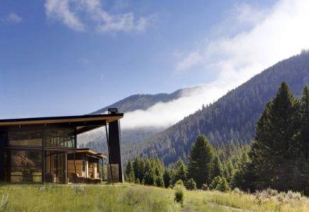 panorama montagne - River Bank house par Balance Associates Architects - Big Sky, Montana, Usa