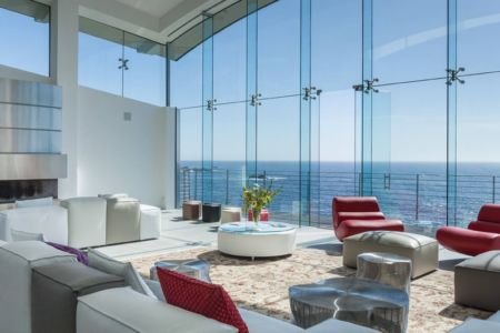 panorama salon - Carmel Highlands Residence par Eric Miller Architects - Carmel-By-The-Sea, Usa