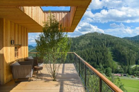 panorama terrasse - Deluxe Mountain Chalets par Viereck Architects - Styria, Autriche