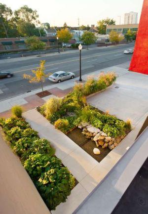 parking et allée entrée - Flute house par The Think Shop Architects - Royal Oak , Usa