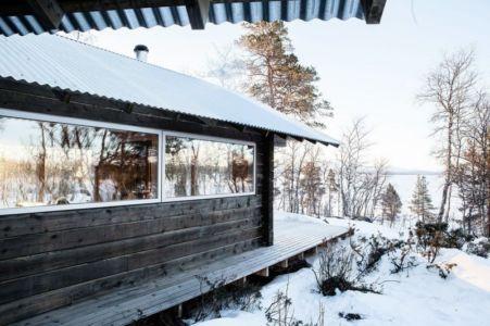 partie baie vitrée terrasse - femunden par Aslak Haanhuus Arkiekter - Femund, Norvege
