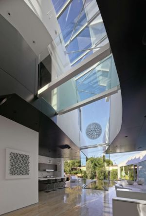 partie centrale - Birch Residence par Griffin Enright Architects - Los Angeles, Usa