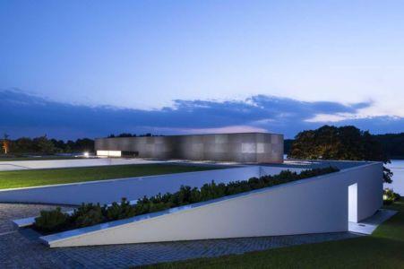 partie toit végétalisé - Nemo-house par Mobius Architects - lac Mazurie, Pologne