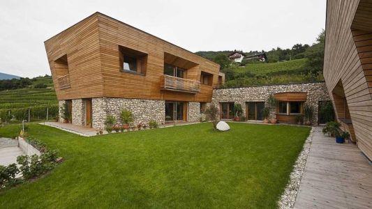 partie u intérieure - Brunner House par Norbert Dalsass - Italie