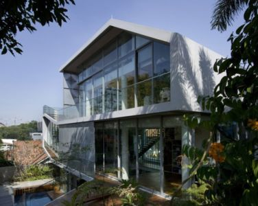 parties supérieures - OOI House par Czarl Architects - Singapour