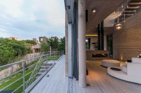 passerelle - Wanka House par Estudio Arquitectura Galera - Cariló, Argentine