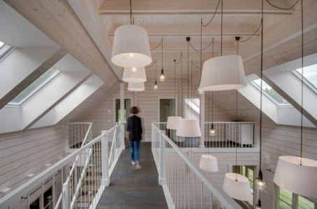 passerelle étage - Ranch par Aketuri Architekai - Lituanie
