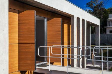 passerelle métallique accès - Botucatu-House par FGMF Arquitetos - Botucatu, Brésil