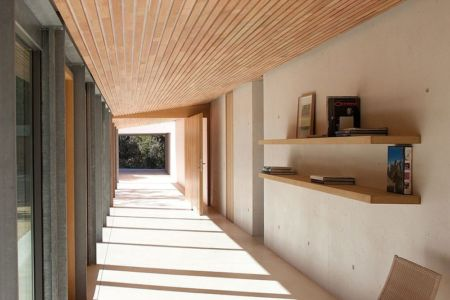 patio - Alon House par AABE et Partners -France