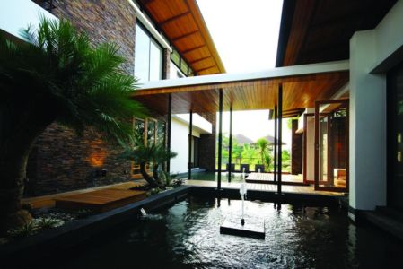 patio - Nature House par JUNSEKINO Architect - Changwattana, Bangkok, Thaïlande