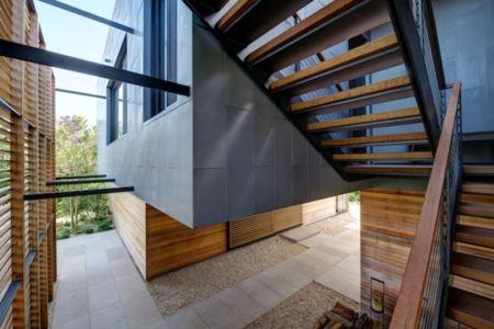 patio - Shore House par Stelle Lomont Rouhani Architects -  Amagansett, Usa
