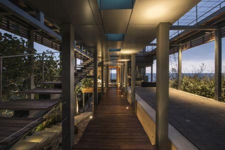 patio intérieur - Amchit résidence par Blankpage architects -Liban