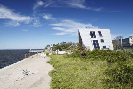 paysage extérieur & vue panoramique océan - frame-house par Bromley Caldari Architects - New York, USA