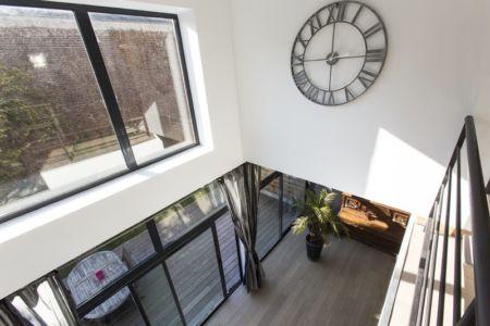 pendule mezzanine - Maisons jumelées par MAG architectes - France - photo Stéphano Candito