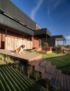 perron entrée - GB-House par EMA Arquitectos - Concón, Chili