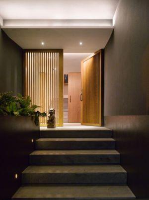 perron façade entrée - Barrancas House par Ezequielfarca Architecture & Design - Mexico, Mexique