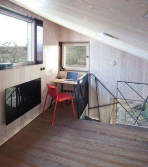 petit bureau en mezzanine - Wooden-House par ASGK design - Lodin, République Tchèque