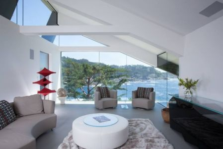 petit salon - Carmel Highlands Residence par Eric Miller Architects - Carmel-By-The-Sea, Usa