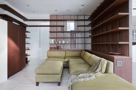 petit salon - Malibu House par Dutton Architects - Usa