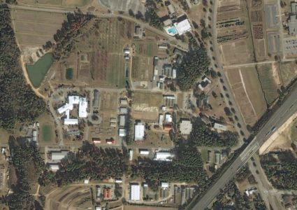 photo aérienne - Farmstead of the future - Universite de Georgie - Usa