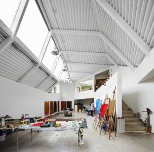 pièce atelier - Maison et atelier d'artiste par Miba architects - Gijón, Espagne