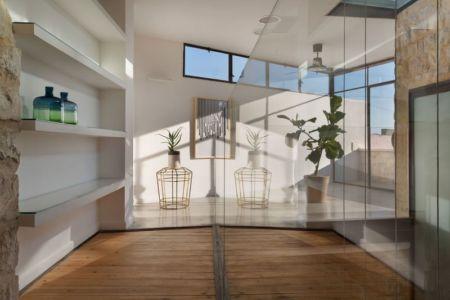 pièce déco plantes - Stone-House par Henkin Shavit Architecture & Design - Safed, Israël
