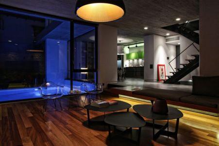 pièce de loisir - A&A-House par WoArchitects - Athènes, Grèce