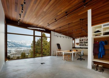 pièce de vie - Butte Residence par Carney Logan Burke Architects - Jackson, Usa