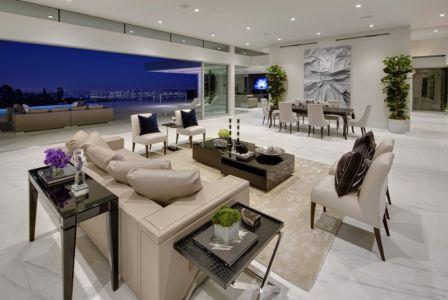 pièce de vie - Carla Ridge par McClean Design - Beverly Hills, Usa