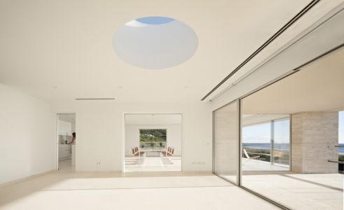 pièce de vie - Casa del Infinito par  Alberto Campo Baeza - Cadix, Espagne - photo Javier Callejas Sevilla