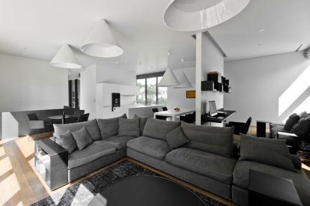 pièce de vie - Family House par UAB Architektu biuras - Palanga, Lituanie