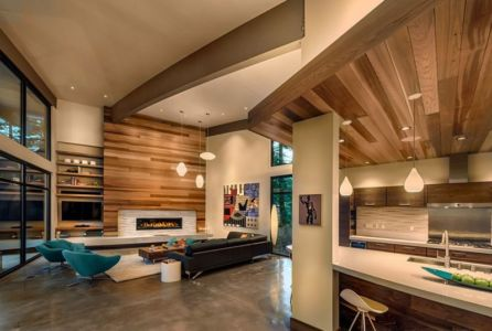 pièce de vie - Flight House in Martis Camp par Sage Architecture - Truckee, Usa