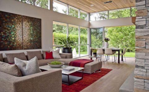 pièce de vie - Forest House par Garret Cord Werner - Vancouver, Canada