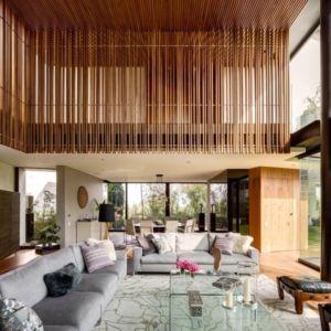 pièce de vie - Garden house par VGZ Architecture - Mexico, Mexique