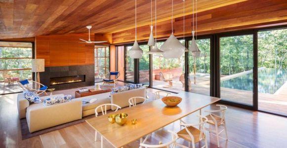 pièce de vie - Hamptons Home In The Woods par Rangr Studio - Southampton, New York, Usa