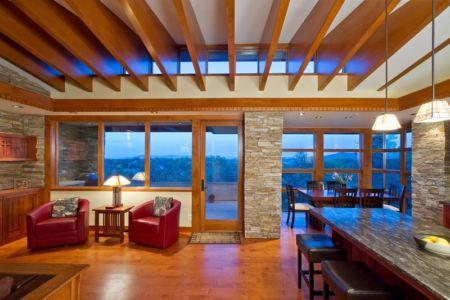 pièce de vie - Hinshaw par Michael Rust – Architect LLC - Prescott, Usa