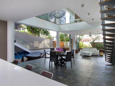 pièce de vie - Home-Walls par Mink Architects - Singapour