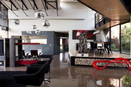 pièce de vie - House Tsi par Nico van der Meulen Architects - Afrique du Sud
