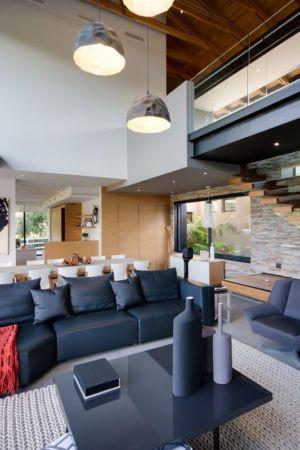 pièce de vie - House-in-Blair-Atholl par Nico van der Meulen Architectes - Johannesburg, Afrique du Sud