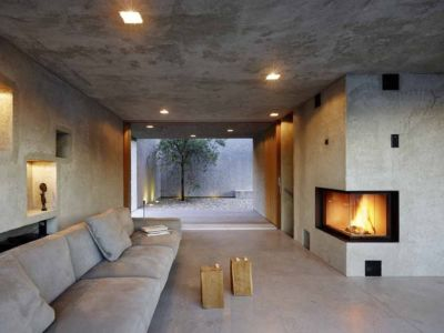 pièce de vie - House in Brissago par Wespi de Meuron Romeo architects - Brissago, Suisse
