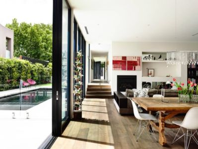pièce de vie - Kew House par Amber Hope Design - Melbourne, Australie