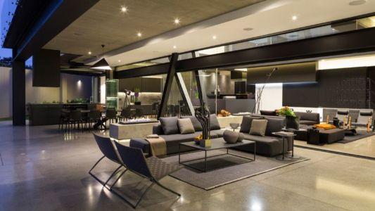 pièce de vie - Kloof-Road-House par Nico van der Meulen Architects - Johannesburg, Afrique du Sud